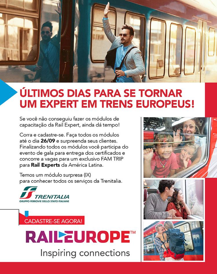 Últimos dias para se tornar um EXPERT e concorrer a uma VIAGEM! #RailEurope
