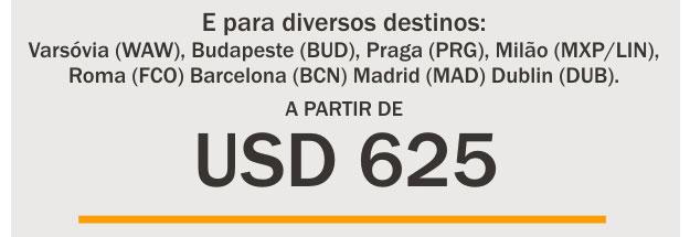 EUROPA A PARTIR DE USD 625