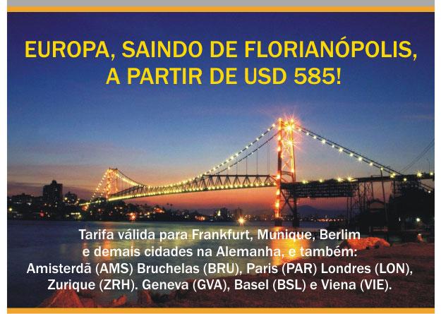 TARIFAS ESPECIAIS PARA A EUROPA