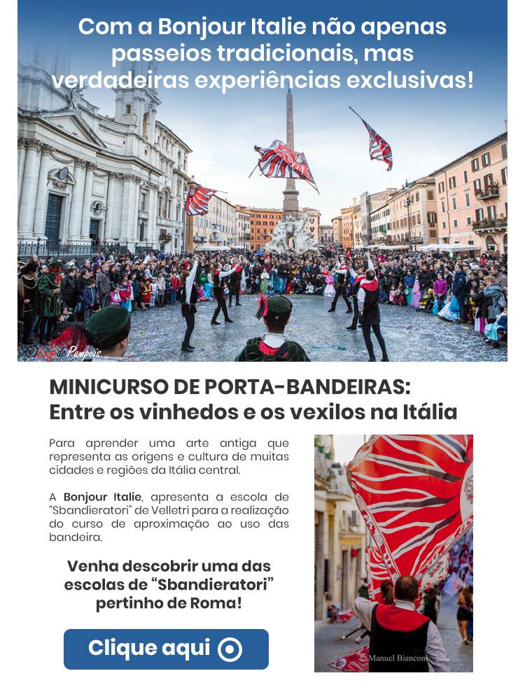 """VENHA DESCOBRIR UMA DAS ESCOLAS DE """"SBANDIERATORI"""" PERTINHO DE ROMA!  CLIQUE AQUI"""
