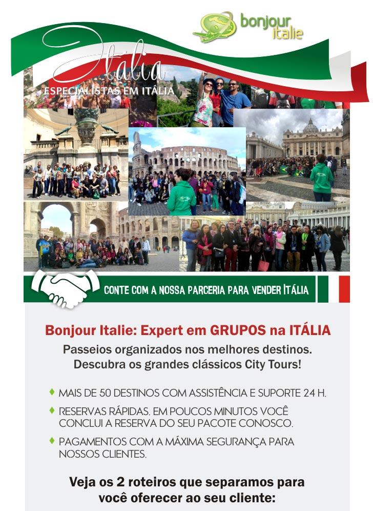 BONJOUR ITALIE: EXPERT EM GRUPOS NA ITÁLIA - www.bonjouritalie.com