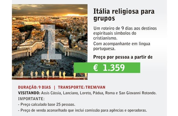 ITÁLIA RELIGIOSA PARA GRUPOS - BONJOUR ITALIE | CLIQUE AQUI E SAIBA MAIS