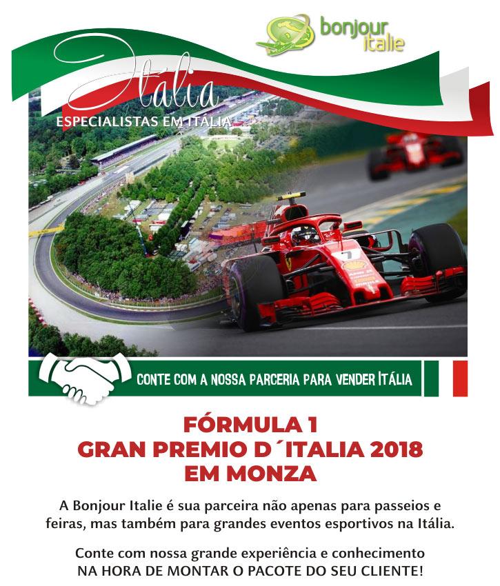 FÓRMULA 1 GRAN PREMIO D'ITALIA 2018 EM MONZA  -  BONJOUR ITALIE: EXPERT EM GRUPOS NA ITÁLIA - www.bonjouritalie.com