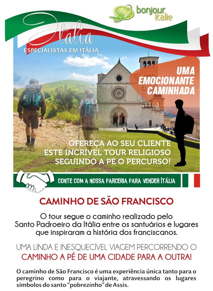 UMA EMOCIONANTE CAMINHADA - OFEREÇA AO SEU CLIENTE ESTE INCRÍVEL TOUR RELIGIOSO SEGUINDO A PÉ O PERCURSO!  -  BONJOUR ITALIE: EXPERT EM GRUPOS NA ITÁLIA - www.bonjouritalie.com