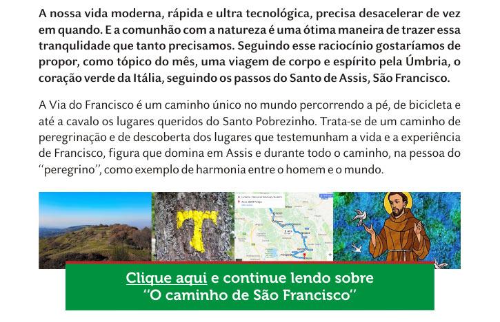 """Continue lendo sobre """"O Caminho de São Francisco"""""""