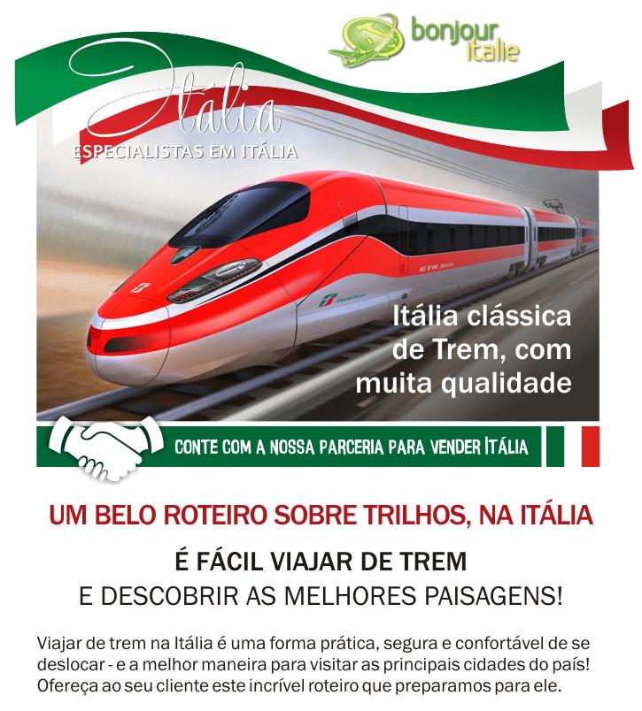 ITÁLIA CLÁSSICA DE TREM, COM MUITA QUALIDADE  -  BONJOUR ITALIE: EXPERT EM GRUPOS NA ITÁLIA