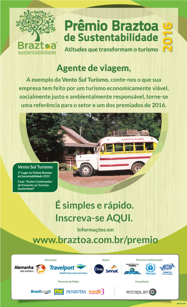 INSCREVA-SE AQUI - PRÊMIO BRAZTOA 2016