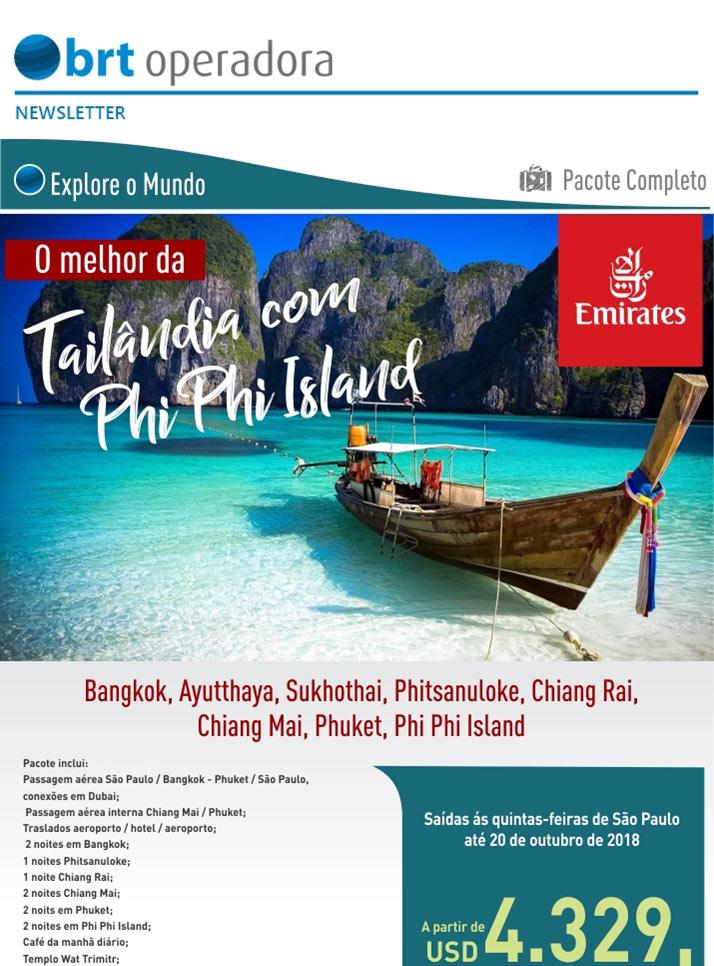 O MELHOR DA TAILÂNDIA COM PHI PHI ISLAND  -  BRT OPERADORA | www.grupobrt.com.br