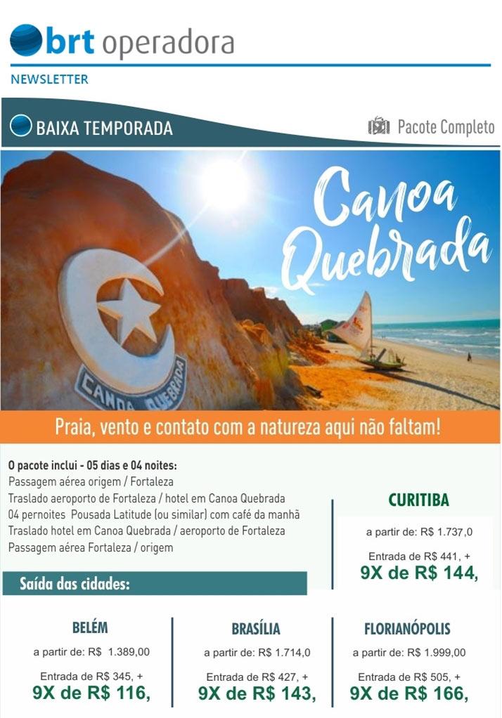 BAIXA TEMPORADA - PACOTE COMPLETO | CANOA QUEBRADA  -  BRT OPERADORA | www.grupobrt.com.br