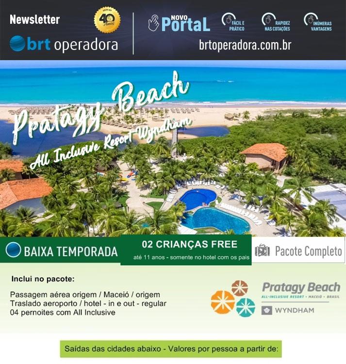 PRATAGY BEACH ALL INCLUSIVE - BAIXA TEMPORADA 2 CRIANÇAS FREE   |   BRT OPERADORA | www.grupobrt.com.br