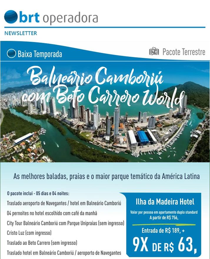 BAIXA TEMPORADA BALNEÁRIO DE CAMBORIÚ COM BETO CARRERO WORLD  -  BRT OPERADORA | www.grupobrt.com.br