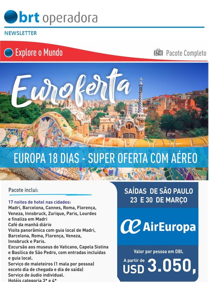 EXPLORE O MUNDO - PACOTE COMPLETO  |  EUROPA 18 DIAS - SUPER OFERTA COM AÉREO