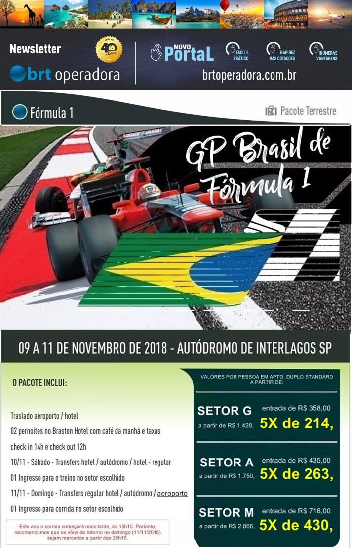 GP BRASIL DE FÓMULA 1   |   BRT OPERADORA | www.grupobrt.com.br