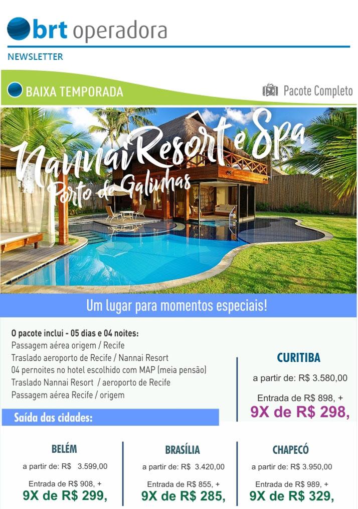 BAIXA TEMPORADA - NANNAI RESORT E SPA PORTO DE GALINHAS  |  PACOTE COMPLETO  -  BRT OPERADORA | www.grupobrt.com.br