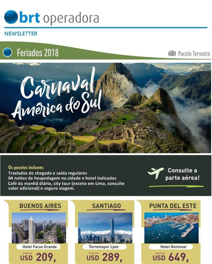 FERIADOS 2018 | CARNAVAL AMÉRICA DO SUL - Pacote Terrestre
