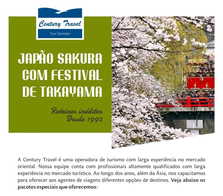 JAPÃO E SAKURA COM FESTIVAL DE TAKAYAMA - CENTURY TRAVEL | ROTEIROS INÉDITOS - DESDE 1992