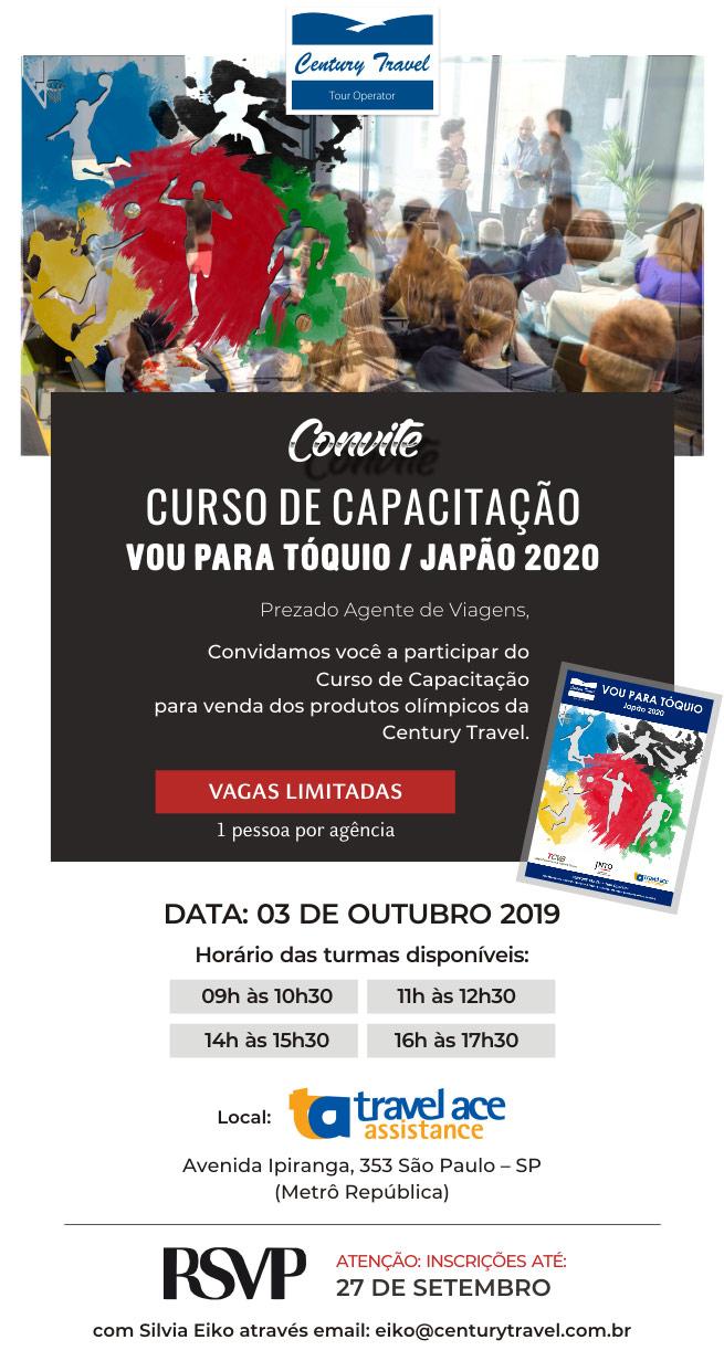 CONVITE | CURSO DE CAPACITAÇÃO - CENTURY TRAVEL
