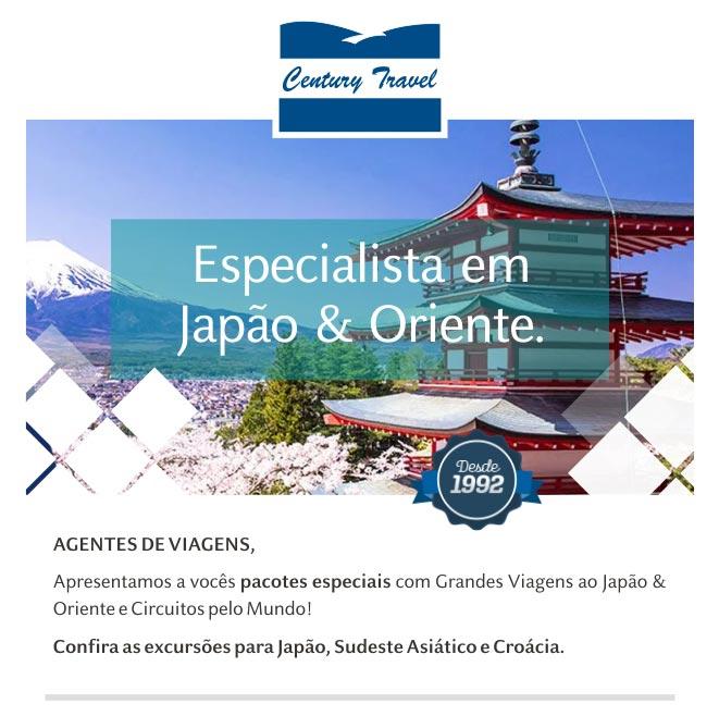 ESPECIALISTA EM JAPÃO & ORIENTE.  CENTURY TRAVEL DESDE 1992  -  www.centurytravel.com.br