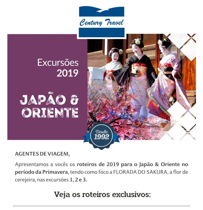 CENTURY TRAVEL - LANÇAMENTO DE EXCURSÕES 2019 - JAPÃO & ORIENTE