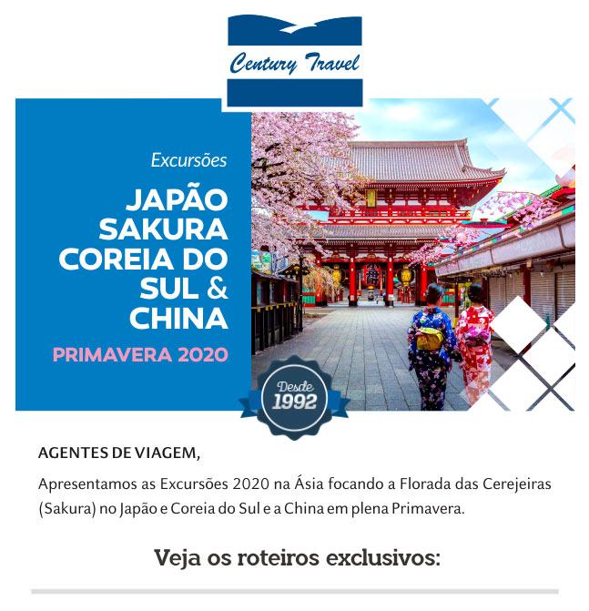 Contato por e-mail envie para: operacoes@centurytravel.com.br