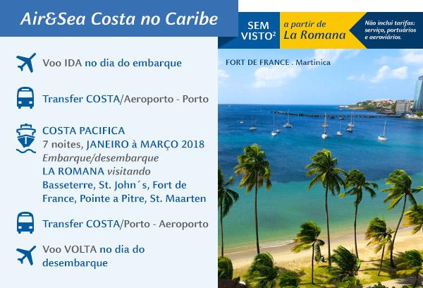 Air&Sea Costa no Caribe