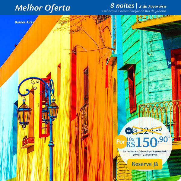 Melhor Oferta, 8 noites | 2 de Fevereiro por 10x R$150,90