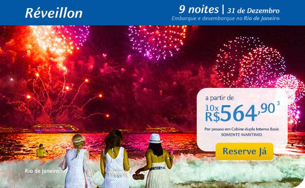 Réveillon, 9 noites | 31 de Dezembro, a partir de 10x R$564,90