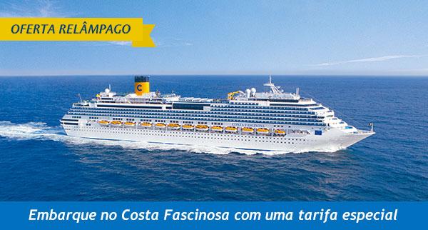 Embarque no Costa Fascinosa com uma tarifa especial