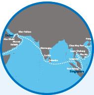 De Dubai a Singapura