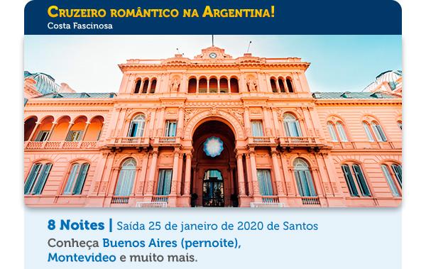 Cruzeiro romântico na Argentina!
