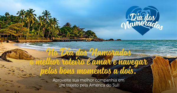 No Dia dos Namoradoso melhor roteiro é amar e navegarpelos bons momentos a dois. Aproveite sua melhor companhia em um trajeto pela América do Sul!
