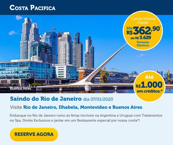 Embarque no Rio de Janeiro rumo às férias incríveis na Argentina e Uruguai com Tratamentos no Spa, Drinks Exclusivos e jantar em um Restaurante especial por nossa conta*!