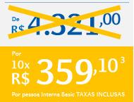 Por 10x R$359,10