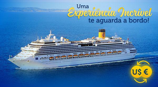 Uma Experiência Incrível te aguarda a bordo!