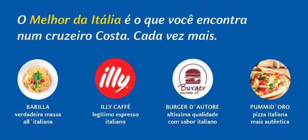 O Melhor da Itália na Costa!