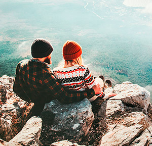 Casal aventureiro