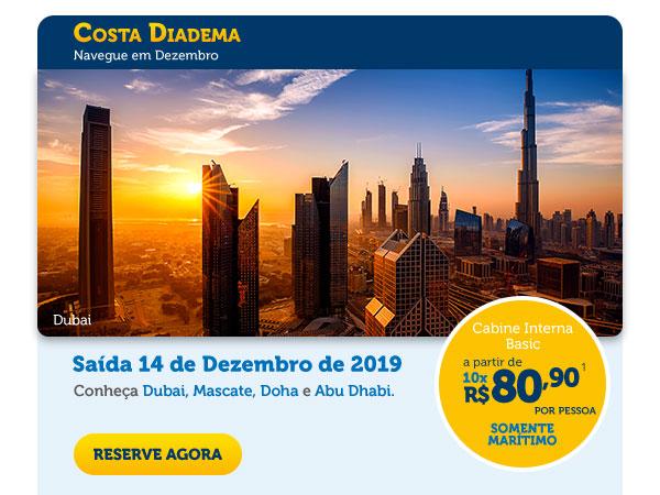 Costa Diadema - Navegue em Dezembro