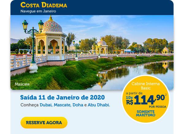 Costa Diadema - Navegue em Janeiro