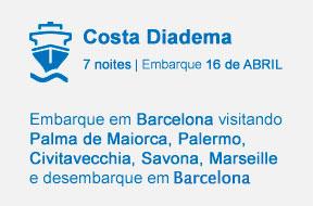 Embarque em Barcelona