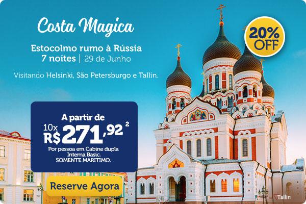 Costa Magáca, Estocolmo rumo à Rússia, 7 noites | 29 de Junho