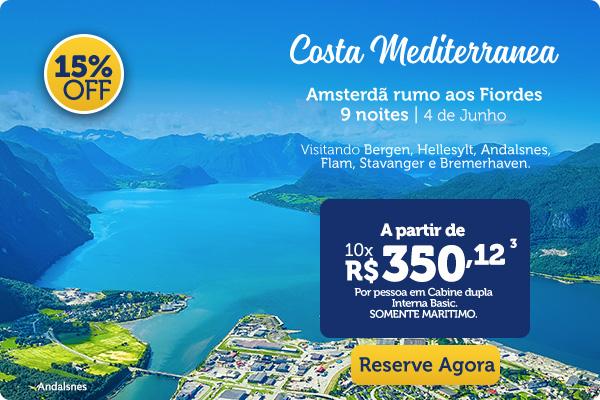 Costa Mediterranea, amsterdã rumo aos Fiordes, 9 noites | 6 de Junho