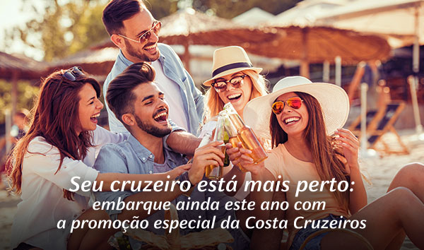 Seu cruzeiro está mais perto: embarque ainda este ano com a promoção especial da Costa Cruzeiros