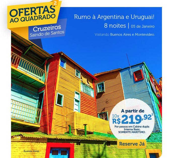 RUMO À ARGENTINA E URUGUAI 8 NOITES | 05 DE JANEIRO