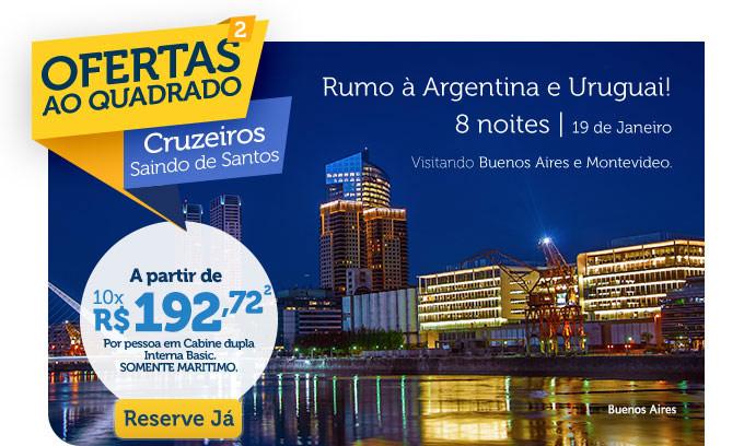 RUMO À ARGENTINA E URUGUAI 8 NOITES | 19 DE JANEIRO