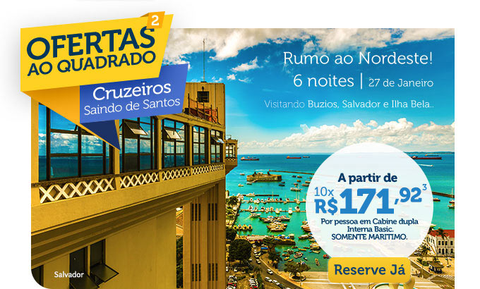 RUMO AO NORDESTE! 6 NOITES  | 27 DE JANEIRO