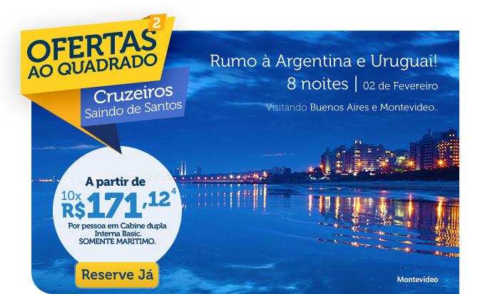 RUMO À ARGENTINA E URUGUAI! 8 NOITES | 02 DE FEVEREIRO