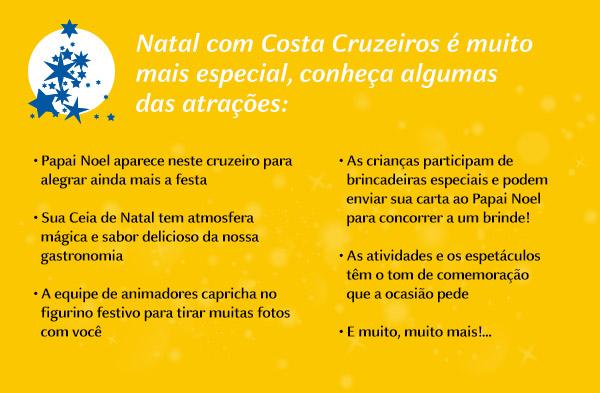 Natal com Costa Cruzeiros é muito mais especial