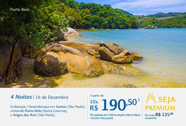 Porto Belo, 4 Noites | 16 de Dezembro