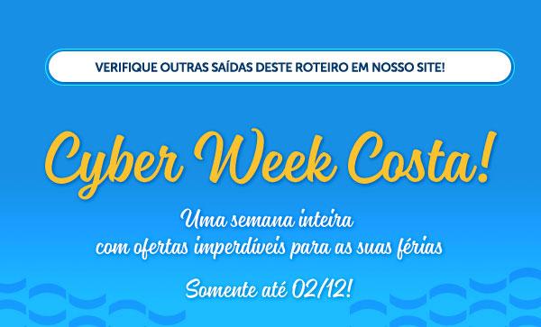Cyber Week Costa! Uma semana inteira com ofertas imperdíveis para as suas férias, comente até 02/12