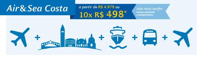 Air&Sea Costa | a partir de 10x de R$ 498*